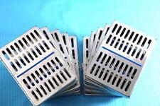 10 Dental Autoclave Sterilization Cassette Rack Box Tray For 10 Instrument