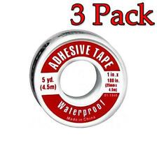 Leader Adhesive Tape, Waterproof, 1inch X 5yards, 1ct, 3 Pack 096295102819A143