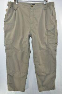 5.11 Tactical Taclite Pro Pants Ripstop Mens Size 42x30 Tan Meas. 38x29 Beige