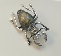 Unique Insect  Beetle large Pin brooch   Enamel on Metal