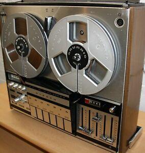GRUNDIG TK 248 Tonbandmaschine mit guten Grundig Spulen + Videodemo