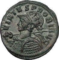 "PROBUS ""VIRTVS"" Rare Ancient Roman Coin Ticinum mint Security Cult   i55476"