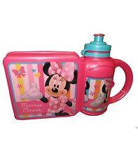 Set Box Portamerenda Porta pranzo con Borraccia Disney Minnie Asilo Scuola