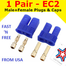 1 Pair EC2 Connector Plug for RC Car Plane Helicopter Battery Lipo ESC