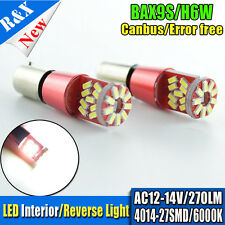 10x H6W BAX9S led bulb error free canbus parker parking Lamp 4014 27SMD AC 12V