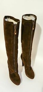 gucci fur lined boots size us 6b uk 4