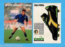 TOP990-PUBBLICITA'/ADVERTISING-1990- DIADORA - testimonial R.BAGGIO -2 fogli