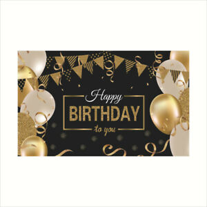 180x115cm Party Birthday Hanging Banner Bunting Background Decor Banner Decor