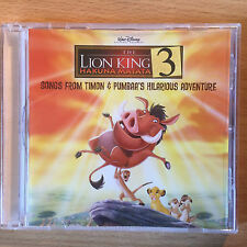 """THE LION KING 3""-SONGS FROM TIMON & PUMBAA'S MOVIE-WALT DISNEY-BRAND NEW CD"