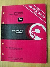 John Deere 1610 Series Drawn Chisel Plow Operators Manual Om N200034