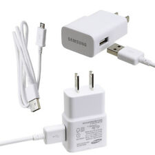OEM Original Samsung 2 Amp Micro USB Rapid Wall Travel Charger & Data Sync Cable