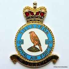 RAF 120 Squadron DANBURY MINT Blank Badge -24ct Gold Plate 1970s Royal Air Force