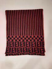 Genuine FENDI vintage Maroon  100% wool winter scarf Scarves
