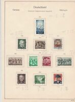 germany 1954 democratic republic stamps page  ref 18752
