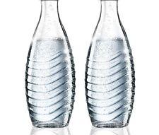 SodaStream 2er Set Ersatz Glas-Karaffe  0,6L für Crystal & Penguin ohne Deckel