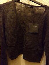 Veste Gilet top femme women laine merinos laurenvidal taille Size 44 XL New neuf