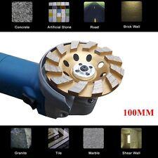 "100mm 4"" inch Diamond Sintered Segment Grinding Grinder Cup Wheel Disc 2 Rows"
