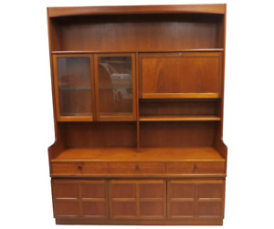 Vintage English Mid Century Nathan Furniture Teak Wood Credenza