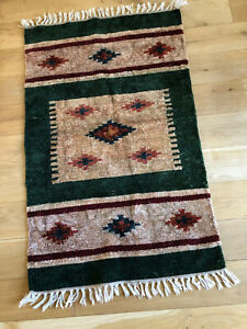 CHENILLE BATHROOM RUG OR MAT - approx 92 x 56 cms