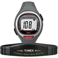 TIMEX Mens/Ladies Heart Rate Monitor Running Watch T5K537 Mid-Size Easy Trainer