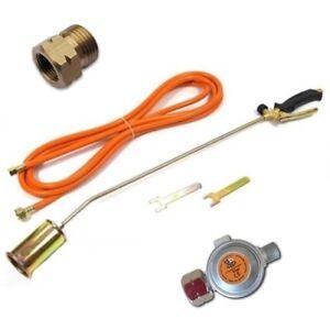 Gasregler Gasbrenner Abflammgerät Unkrautvernichter Dachbrenner ø60 mm 85cm