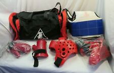 Youth Karate Sparring Gear with Gear Bag - Red ~!