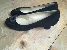 Pumps Ballerina von Chiemsee Dirndl & Trachten schwarz Nubuk Leder 40