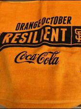 San Francisco Giants 2021 Playoffs Orange October Resilient Rally Towel Sga Sf
