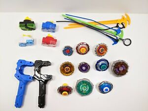 Beyblade Joblot Bundle of 10 Beyblades With Spares and accessories