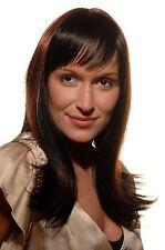 Perruque Femmes noir rouge brun éclaircissement Cheveux noble Look 50 cm