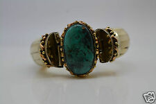 Tara Mesa Mixed Metals Oval Turquoise & Bone Bangle Bracelet