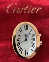 Cartier Art Deco Travel Alarm Clock Rose Gold Classic Dial Wonderful Mint