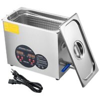 6L 400W Ultrasonic Cleaner Cleaning Equipment Industry Heated W/ Timer Heater