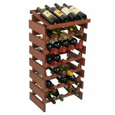 Wooden Mallet Wrd46mh Mahogany Dakota 28 Bottle Wine Rack With Display Top Wrd46