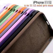 Silicone Case For iPhone 12 Mini Pro Max 11 Pro XS Pro Max XR Liquid Soft Cover