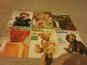 6  VINTAGE Teddy Bear  and friends 1991 1/2, 5/6 oct, dec,aug 3/4  120 pages