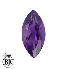 BJC® Loose Marquise Cut Bright Purple Colour Amethyst Stone 100% Natural Stones