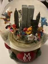 Vintage Globe Music Box. Macy's Day Parage With Trade Center.