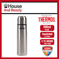 NEW Thermos THERMOcafe S/Steel Slimline 1.0 Litre Vacuum Insulated Flask