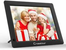 Crosstour Digital Photo Frame 8 Inch, Wide Screen Electronic Picture/Music/Video