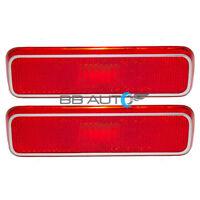 Dodge Plymouth Set Pair Rear Side Marker Signal Light Lens Lamp Housing Red DOT