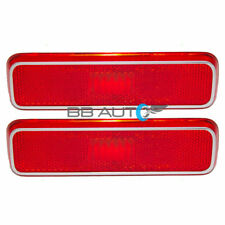 Set Pair Rear Side Marker Signal Light Lens Lamp Housing Red FOR Dodge Plymouth
