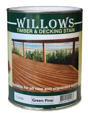 Willows Timber Deck Furniture Window Beams Stain Paint OiL Based 1L Green Pine