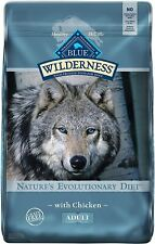 Blue Buffalo Wilderness High Protein, Natural Adult Dry Dog Food- Chicken - 24lb