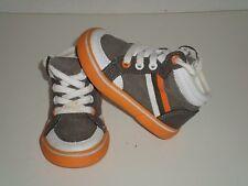 Children's Place Boys Toddler Brown Orange Canvas Hi Top Shoes Size 5 Cute