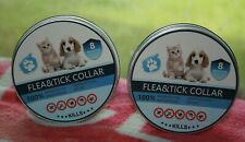 "New listing 2 Flea & Tick Collar Cat Dog 25"" Flea Prevention 8 Month Protection WaterProof"