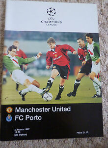 MANCHESTER UNITED v FC PORTO - CHAMPIONS LEAGUE QUARTER-FINAL - 5th March 1997