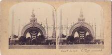 Expo universelle de Paris 1900 Porte Monumentale STEREO Vintage citrate