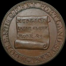 Middlesex, London - 1795  Moores Lace manufactory half penny token