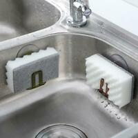 Kitchen Suction Cup Base Brush Sponge Sink Draining Towel Rack Washing Holder